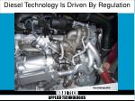 diesel technology is driven by regulation