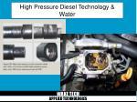 high pressure diesel technology water18