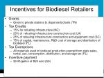 incentives for biodiesel retailers