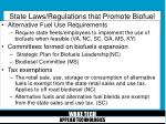 state laws regulations that promote biofuel