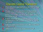 discrete cosine transform22