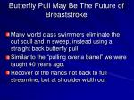 butterfly pull may be the future of breaststroke