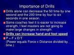 importance of drills