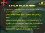 c spine precautions