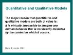 quantitative and qualitative models