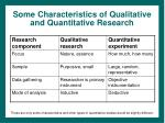 some characteristics of qualitative and quantitative research