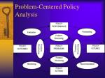 problem centered policy analysis