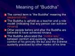 meaning of buddha