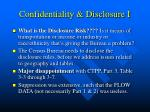 confidentiality disclosure i