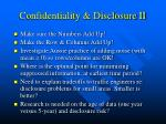 confidentiality disclosure ii