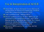 use interpretation of acs ii