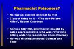 pharmacist poisoners