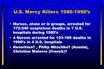 u s mercy killers 1980 1990 s