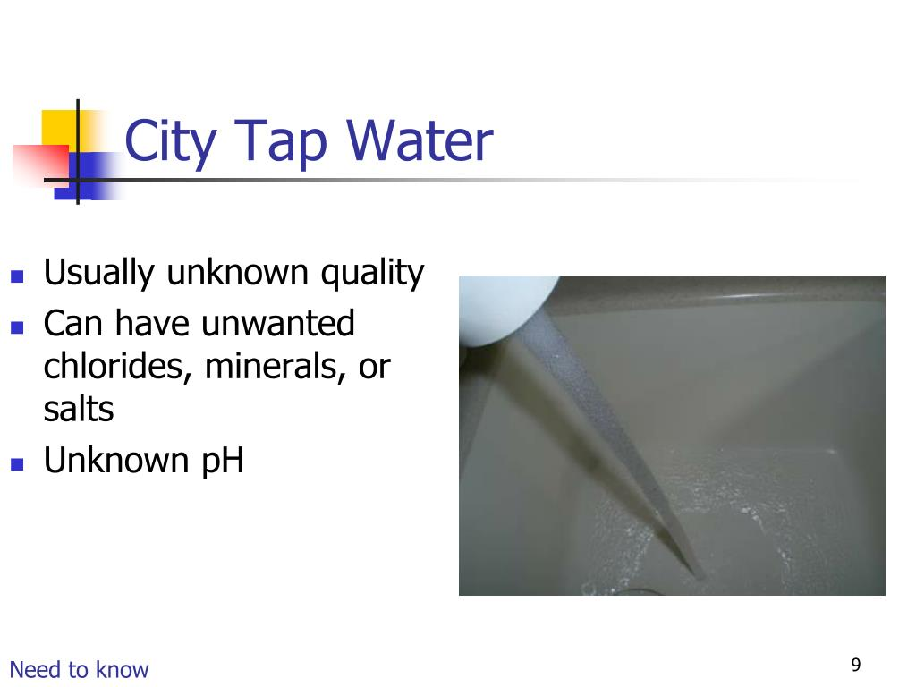 City Tap Water