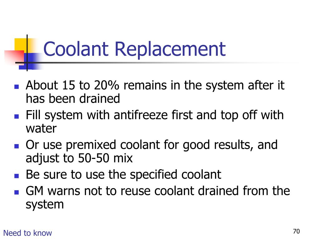 Coolant Replacement