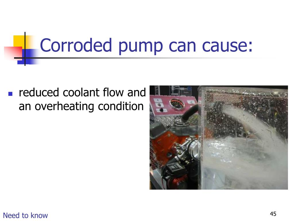Corroded pump can cause:
