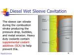 diesel wet sleeve cavitation