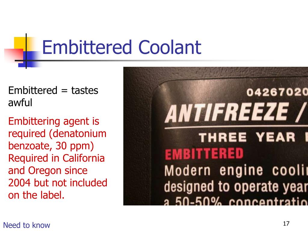 Embittered Coolant