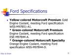 ford specifications