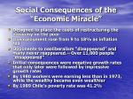 social consequences of the economic miracle