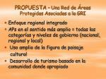 propuesta una red de reas protegidas asociadas a la gri