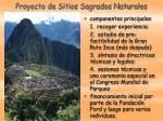 proyecto de sitios sagrados naturales