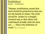 truthfulness satyam truthfulness