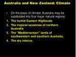 australia and new zealand climate