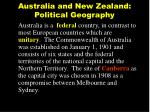 australia and new zealand political geography