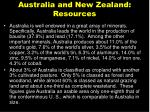 australia and new zealand resources