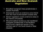 australia and new zealand vegetation