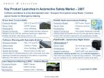 key product launches in automotive safety market 2007