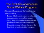 the evolution of american social welfare programs10