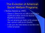 the evolution of american social welfare programs11