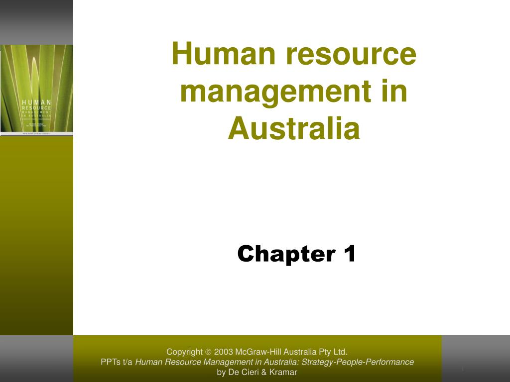 human resource management in australia l.
