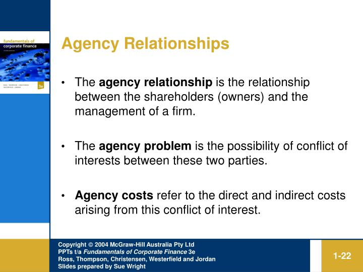 agency relationship finance
