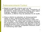 announcement letter
