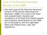 goal of the external assurance division of the isbe