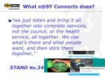 what e@sy connects does