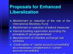 proposals for enhanced liberalization