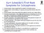 kurt schneider s first rank symptoms for schizophrenia