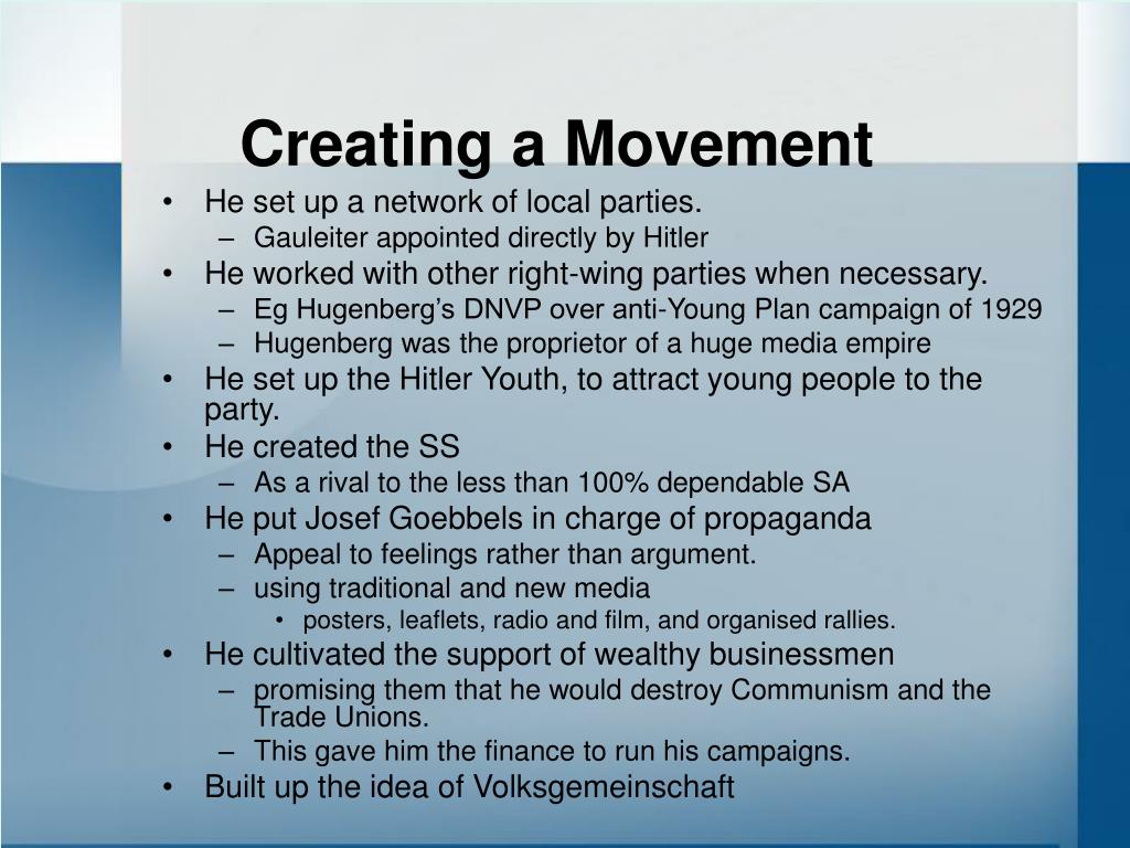 Creating a Movement