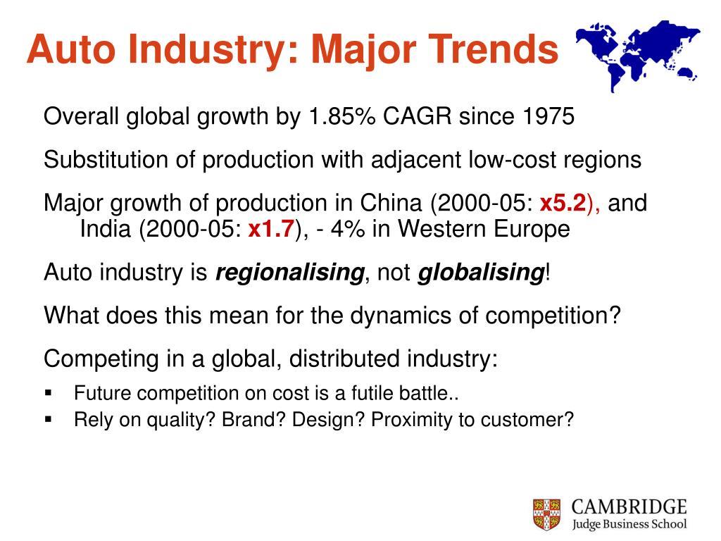 Auto Industry: Major Trends