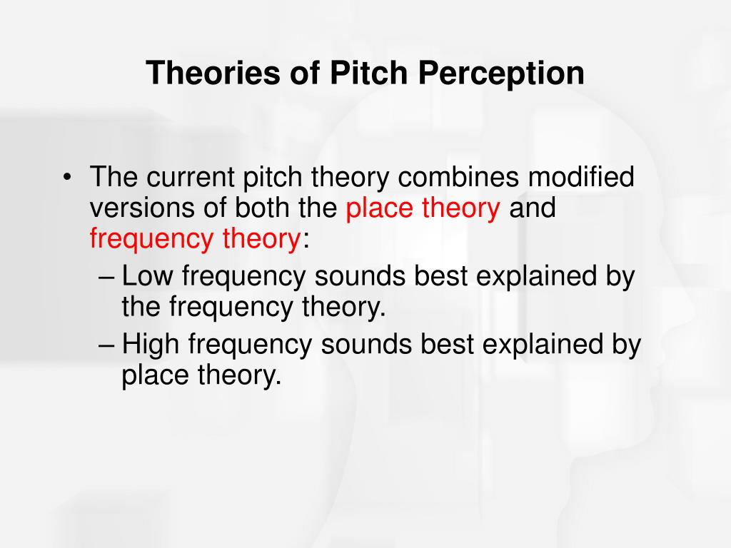 Theories of Pitch Perception