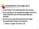 administrative law judge alj
