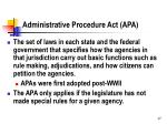 administrative procedure act apa