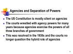 agencies and separation of powers