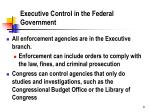 executive control in the federal government