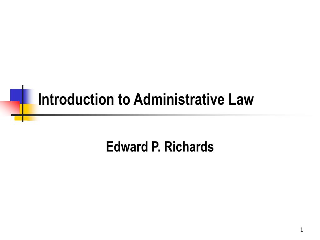 introduction to administrative law l.
