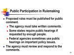 public participation in rulemaking